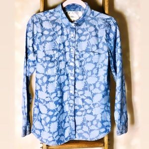 Ann Taylor Loft The Softened Floral Button Up